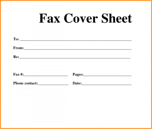 Fax Cover Sheet Sample Template