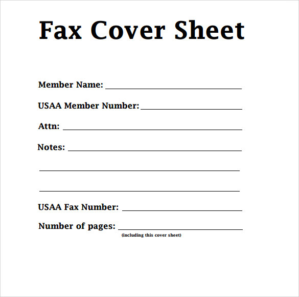 Printable Confidential Fax Cover Sheet