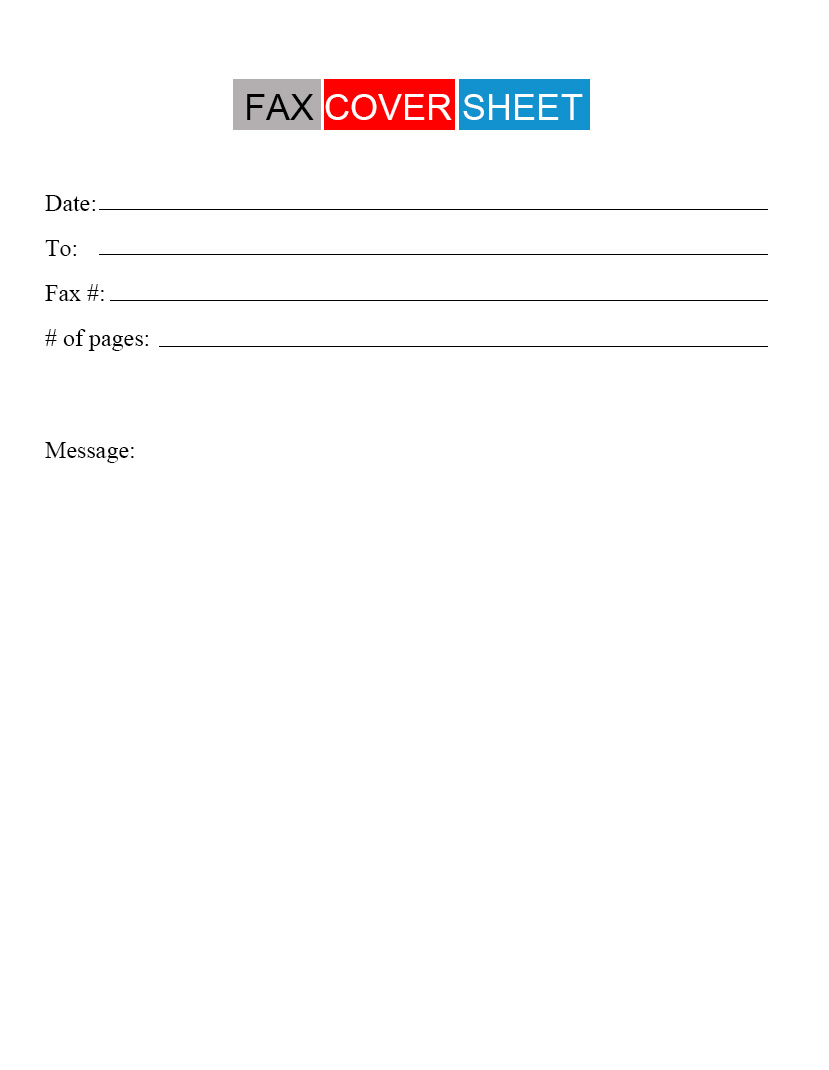 Urgent Fax Cover Sheet Printable