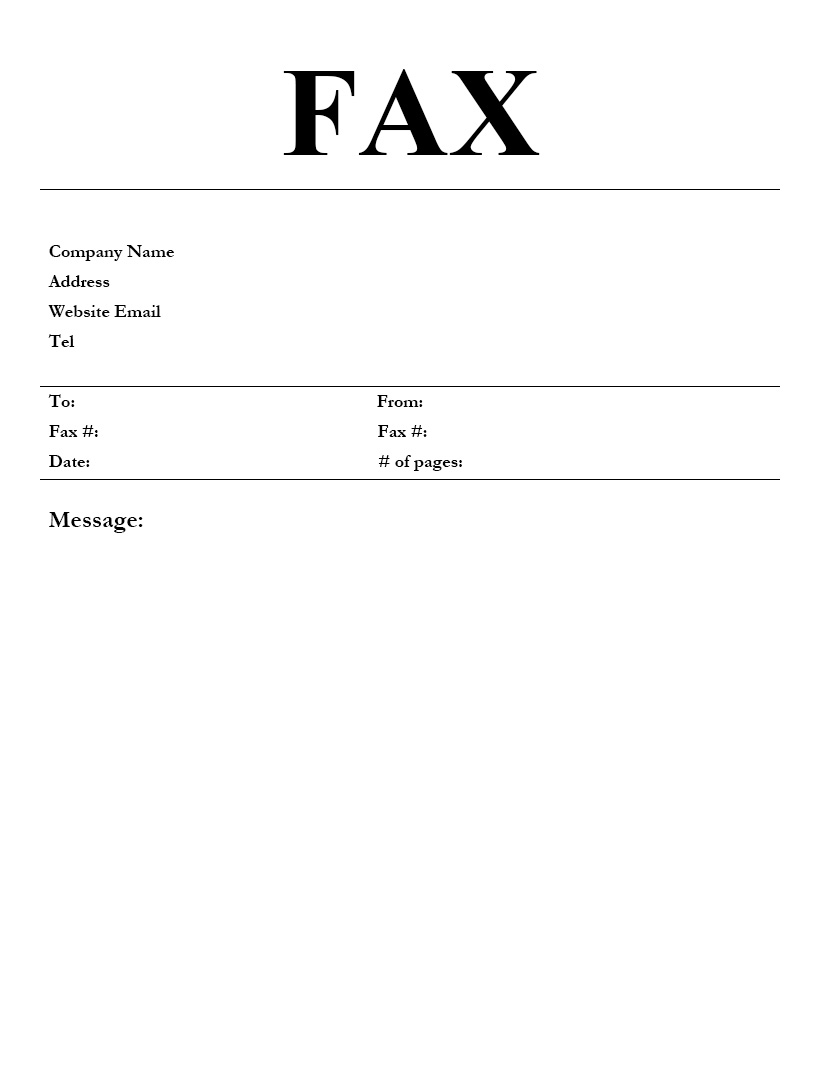 free urgent fax cover sheet